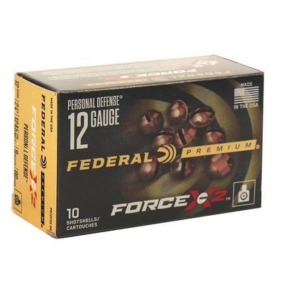 12GA 2 3/4IN 1245FPS 9 PELLETS 00BUCK FORCE X2 10RD