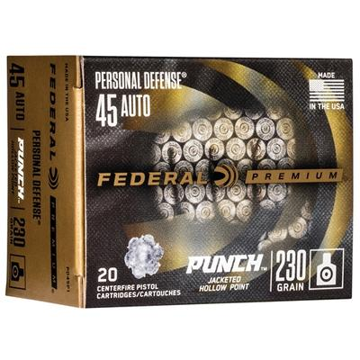 45 AUTO 230GR PUNCH JHP 20RD