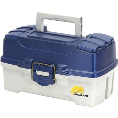 2 TRAY TACKLE BOX BLUE LID