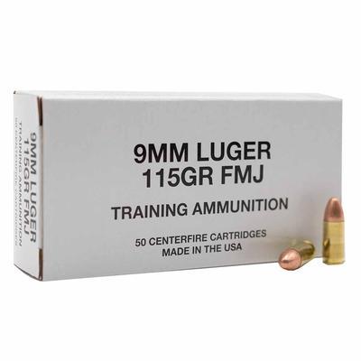 9MM LUGER 115GR FMJ TRAINING AMMUNITION 50RD