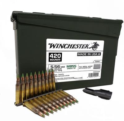 5.56MM 62GR GREEN TIP M855 AMMO CAN 420RD