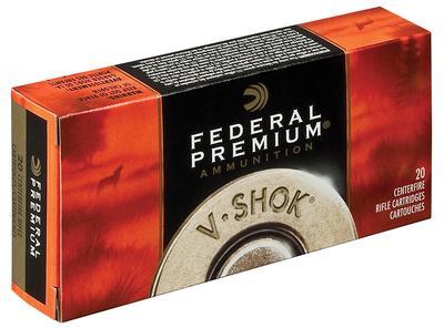 Federal P22250F V-Shok 22-250 Remington 55 GR Nosler Ballistic Tip 20 Bx/ 10 Cs