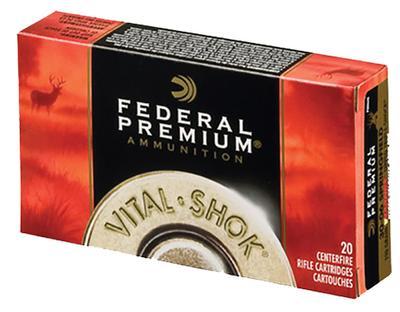 Federal P22250G Vital-Shok 22-250 Remington 60 GR Nosler Partition 20 Bx/ 10 Cs